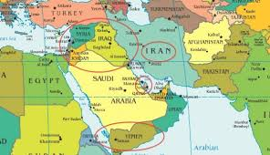 نتیجه تصویری برای عربستان ایران نقشه