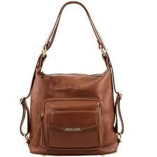TL Bag Женская кожаная сумка <b>рюкзак 2 в 1</b> Cinnamon TL141535