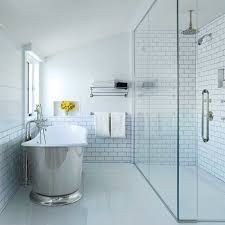 bathroom ceiling empowerment curbless shower with low iron shower glass that goes to the ceiling gr