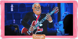 <b>B.B. King - The</b> King Of Blues - Gets A Google Doodle