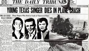 「1959, buddy holly, ritchie valens, big bopper crashed to death」の画像検索結果