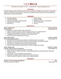 legacy system administrator resume sample eager world annamua
