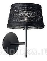 <b>Ideal Lux Basket BASKET</b> AP1 NERO <b>бра</b> с абажуром купить в ...