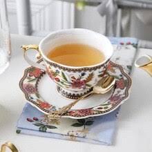 Костяной фарфор, Европейский набор чайных <b>чашек с блюдцем</b> ...