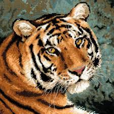 Купить <b>1282</b> Набор для вышивания Riolis 'Амурский тигр', 40*40 ...