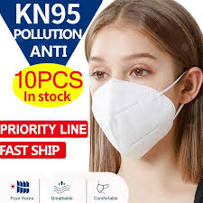 <b>10PCS KN95 N95 Non</b>-<b>medical</b> Dust Face <b>Mask</b> Anti-pollution 4 ...
