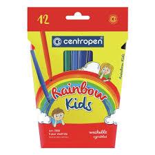 <b>Фломастеры Centropen Rainbow Kids</b>, 12 цветов, трехгранные ...