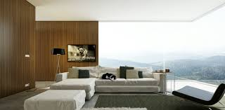 simple black and white living room design doubled by warmth of the wood amazing modern living