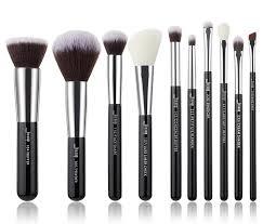 Online Shop Jessup Black/Silver <b>Makeup brushes set</b> professional ...