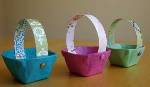 handmade designer paper basket stylish home decor  simple easter basket designs adding creative kids crafts to easter id
