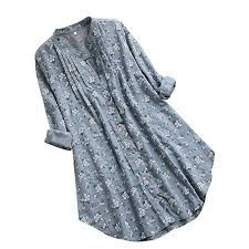 Ywoow <b>Women's</b> V Neck Pleated Floral Print <b>Long</b> Sleeve Casual ...