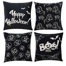 "Shop 4Pcs <b>Luminous Halloween</b> Throw Pillow <b>Case</b> 18"" x 18"" - On ..."