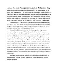 human resource management case study assignmenthelp