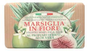 <b>Мыло Marsiglia In Fiore</b> Fig & Aloe Soap 125г (инжир и алоэ)
