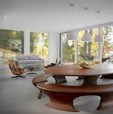 gloss dining table cantilever
