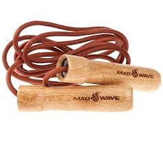 скакалка <b>mad wave</b> wooden skip rope brown m1321 04 0 00w ...