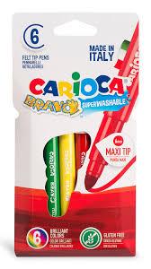 Купить Упаковка <b>фломастеров CARIOCA Bravo</b>, <b>6</b> цв., блистер ...