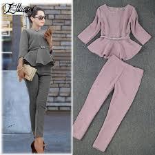 New 2019 <b>Spring Autumn Fashion</b> Women's Business Pants Suits ...