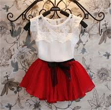 2015 New <b>Girls Clothing</b> Sets Dress Short T shirt <b>2 Pcs</b> Set Summer ...