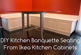 Kitchen Banquette Furniture Diy Kitchen Banquette Bench Using Ikea Cabinets Ikea Hacks