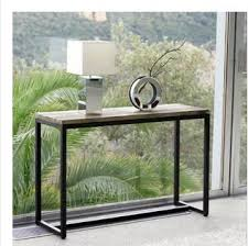 console tables american country vintage wrought iron console table by window tables wood desk leisure american country wrought iron vintage desk