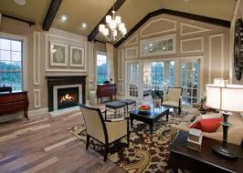 living room with modern vaulted ceiling lighting and dark wooden beams cathedral ceiling lighting ideas