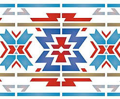 Native American Border Designs  Above And Below  Close Up Sections Of The Aztec  B