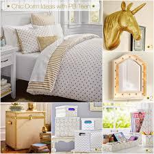 chic dormbedroom do over lil bits of pb teen dorm pottery barn gold and white bedroom chic design dorm room ideas