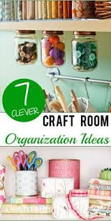 room craft ideas  clever craft room organization ideas