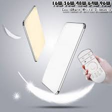 Dimmable <b>LED Ceiling</b> Light <b>Ultra Thin</b> Flush Mount Kitchen Lamp ...