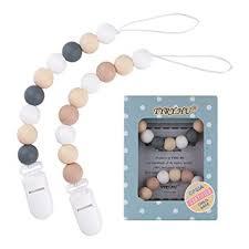 Pacifier Clip, TYRY.HU Silicone Teething Beads ... - Amazon.com