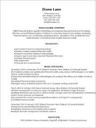 professional financial analyst resume templates to showcase your    resume templates  financial analyst resume
