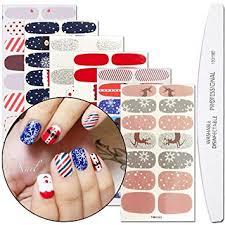WOKOTO 6 Sheets Adhesive Nail Art Polish Sticker ... - Amazon.com