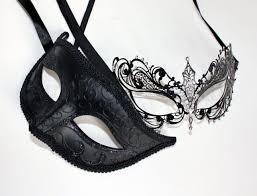 Men <b>Women</b> Couple Black Laser Cut Filigree Mask and Black ...