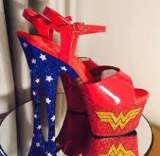 Wonder Woman <b>customised pleasers</b> pole dance shoes | Wonder ...