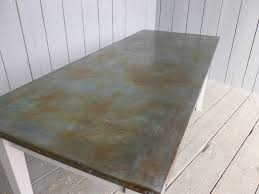 images zinc table top:  we can antique finish the table top for you