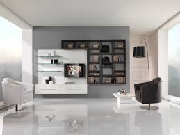 contemporary of cool living room furniture by white black wall unit attach to the grey paint beauteous living room wall unit