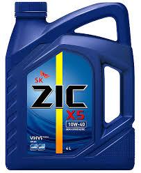 Купить <b>Масло моторное ZIC</b> X5 10W40 полусинтетическое, 4 л с ...