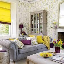 chic purple yellow living room chic yellow living room