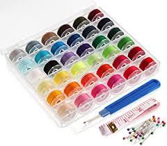 ilauke 36Pcs Bobbins and Sewing Thread with Case ... - Amazon.com