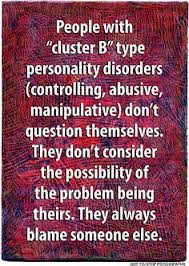 Image result for cluster b personality disorders