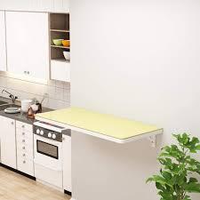Folding Table Folding Wall Table, Tempered Glass ... - Amazon.com