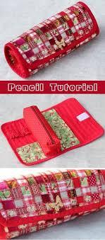 Pencil Patchwork Tutorial. | Выкройки <b>сумок</b>, Пеналы и Лоскутные ...