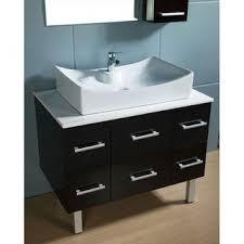 usa tilda single bathroom vanity set: design element paris contemporary bathroom vanity with vessel sink