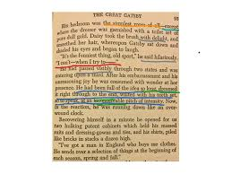 the great gatsby annotations chapter  o the great gatsby chapter 5 copy