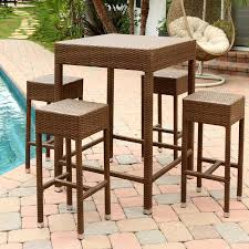 wicker bar height dining table: abbyson living palermo  piece wicker bar height dining set patio dining sets at hayneedle
