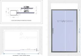 <b>Душевая дверь</b> в нишу STWORKI Стокгольм DE019D2110200 <b>110</b> ...