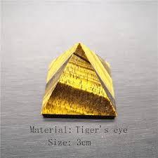 Natural Yellow Tiger Eye Stone Pyramid Decoration Home Feng ...