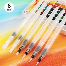 <b>6Pcs</b> Large Capacity Barrel Water <b>Paint Brush Set</b> Different Shape ...