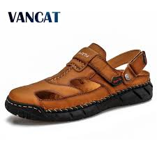 Special Offers <b>new</b> genuine <b>leather sandals men</b> ideas and get free ...
